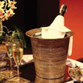 $98.00 Wine & Champagne Holder with Galvanized Bucket