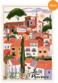 The Globe Exclusives T & B Maison Provence Village Dish Towel