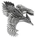 175 Ivory-Billed Woodpecker Pin