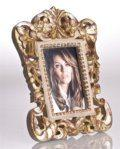82 Vendome Frame, Gray/Gold Leaf