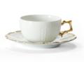 $88.00 Medard de Noblat - Tea Cup And Saucer - Corail Or