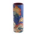 Miscellaneous Dartington Crystal- Hokusai - Canary & Peony Medium Vase