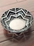 $186.00 Artel Herringbone Black Trinket Bowl, Large