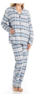 $64.00 PJ Salvage Fall into Flannel Plaid Pajama Set
