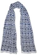 $36.00 TRUE BLUE SCARF, IVORY