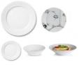 Miscellaneous Royal Copenhagen Custom 5-piece Place Setting - White Fluted Plain with Black Fluted Mega Salad Plate