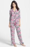 $102.00 PJ LUXE Floral Lace Print Knit Pajamas