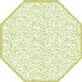 """Holly Stuart Design TWO SIDED ZEBRA AND DOT FAN OCTAGONAL PLACEMAT 15.25"""" X 15.25"""""""