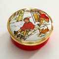 250 Winter Sledging Party Enamel Box