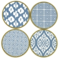Holly Stuart Design Coaster Set Mixed Box Chinese Blue