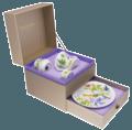 Set Of 4 Pieces (Mug, Soup Plate, Egg Cup, Tooth Box)