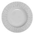 Infini light grey soup plate