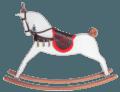 Iena - White matt rocking horse