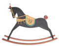 Aboukir - Black matt rocking horse