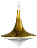 Swing spinning top - gold body
