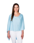 Alashan Cashmere Company Cashmere Blend Dress Topper - Icy Blue