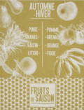 25 De Saison Fruits Tea Towel - Mustard