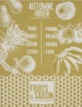 25 De Saison Fruits Tea Towel - Mustard