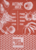 25 De Saison Fruits Tea Towel - Pumpkin