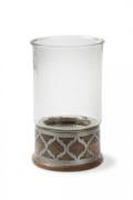 $83.50 Ogee Wood & Metal Candleholder