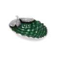 """Pine Cone 11"""" Bowl Emerald"""