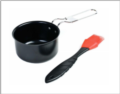 Kitchen Collage Exclusives Small Nonstick Sauce Pot w/Silicone Basting Brush