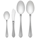 $67.00 Melon Bud Frosted 4pc Serving Set