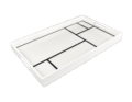 Pacific Connections WHITE GRID RECTANGULAR TRAY 12 X 15 X 2