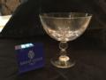 75 SAINT LOIS CRYSTAL BUBBLES FOOTED CUP CLEAR - SAMPLE