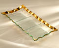 Annieglass Ruffle 3 sections server gold