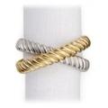 L'Objet DECO TWIST PLATINUM & GOLD NAPKIN RINGS S/4