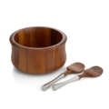 Lawren*s Exclusives Nambé Wooden Salad Bowl