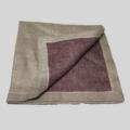 $32.00 Reversible Metallic Gold/Prune Napkin