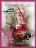 $16.00 Baking Santa Ornament