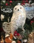 14 White Snow Owl Ornament