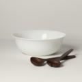 Lenox Profile Salad Bowl with Wood Servers
