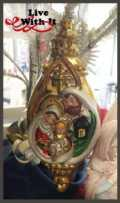 $16.00 Holy Family Finial Ornament, Glass
