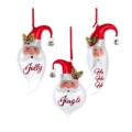 39 Holiday Santa Face Ornaments, Set of 3