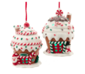 24 Lite Up Gingerbread Cupcake Ornaments, Set of 2
