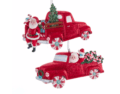 18 Retro Santa Vehicals, Set of 2 Assorted