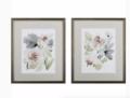 0 Tranquil Floral I & II, Set of 2