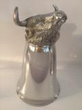198 Large Mirror Finish Bull Stirrup Cup 8 oz.