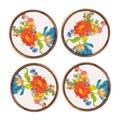 MacKenzie-Childs Flower Market Tabletop Coasters - Set Of 4