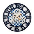 MacKenzie-Childs Royal Check Decor Farmhouse Wall Clock - Large