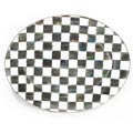 MacKenzie-Childs Courtly Check Tabletop Enamel Oval Platter - Large