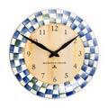 MacKenzie-Childs Royal Check Decor Enamel Clock