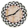 MacKenzie-Childs Courtly Check Decor Enamel Clock