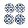 MacKenzie-Childs Royal Check Dining Canape Plates - Set Of 4