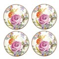 MacKenzie-Childs Flower Market Tabletop Canape Plates - Set Of 4
