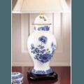 Mottahedeh Imperial Blue Ginger Jar Lamp